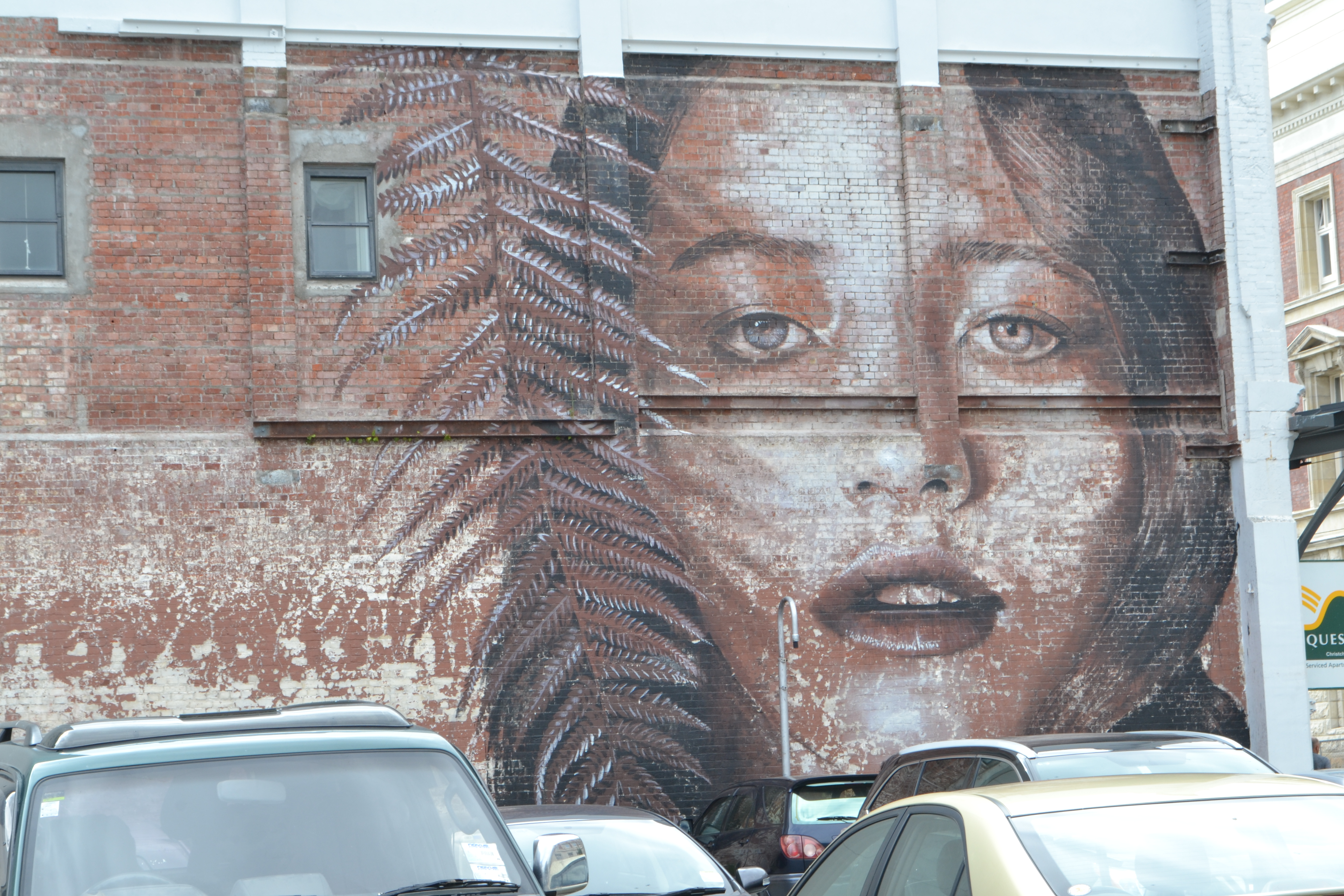 Giant painting in Christchurch